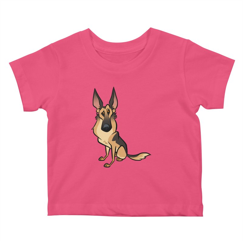 German Shepherd Kids Baby T-Shirt by binarygod's Artist Shop
