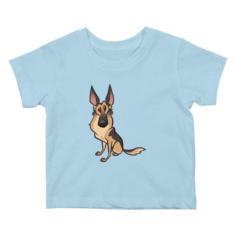 German Shepherd Kids Baby T-Shirt by binarygod's Artist Shop