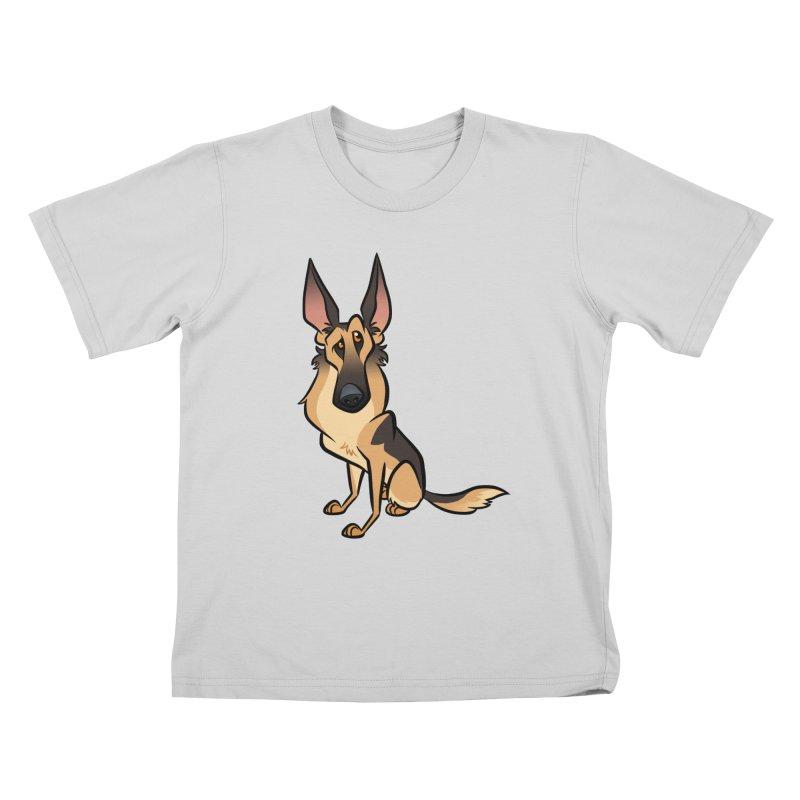 German Shepherd Kids T-Shirt by binarygod's Artist Shop