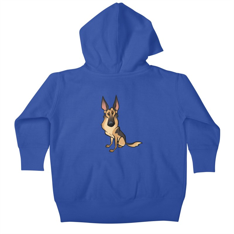 German Shepherd Kids Baby Zip-Up Hoody by binarygod's Artist Shop