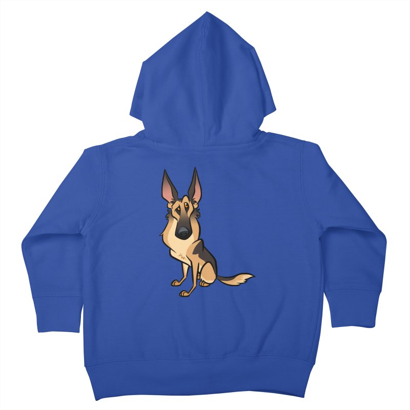 German Shepherd Kids Toddler Zip-Up Hoody by binarygod's Artist Shop