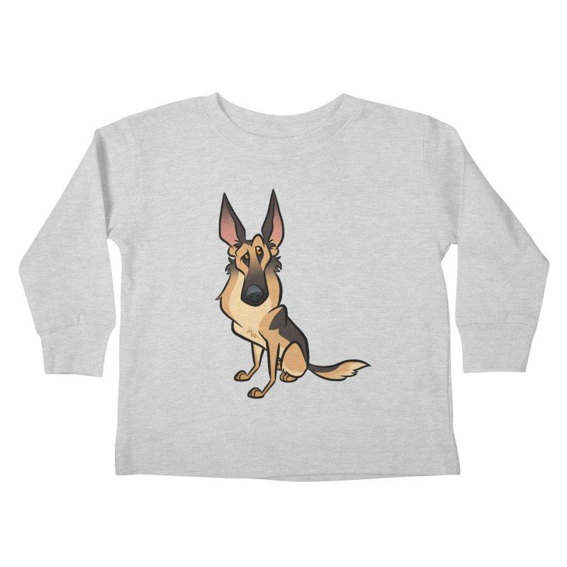 German Shepherd Kids Toddler Longsleeve T-Shirt by binarygod's Artist Shop