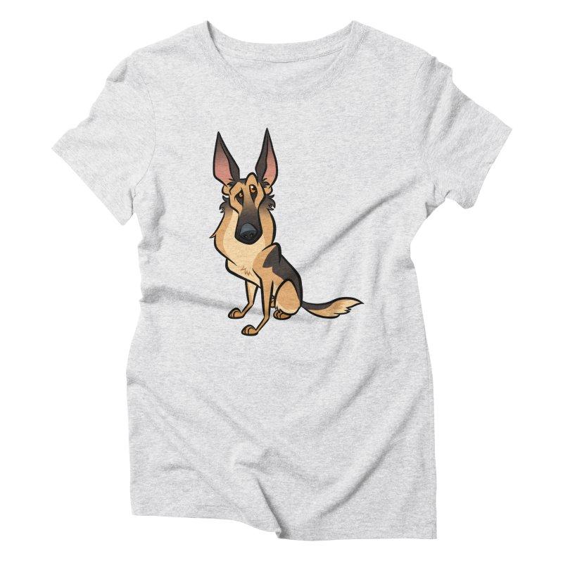 German Shepherd Women's T-Shirt by binarygod's Artist Shop