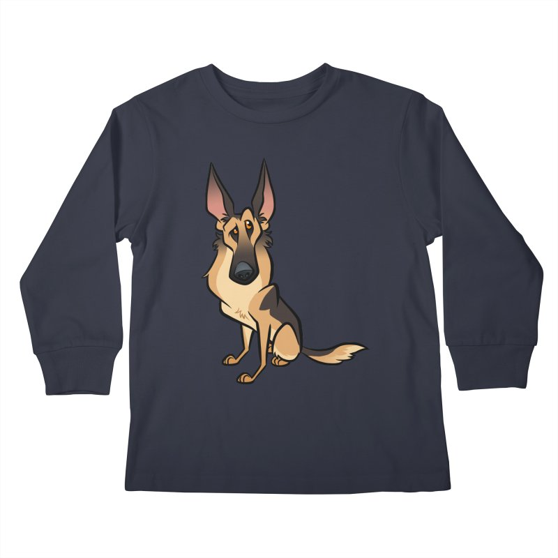 German Shepherd Kids Longsleeve T-Shirt by binarygod's Artist Shop