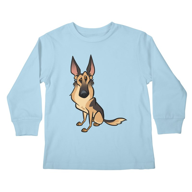 German Shepherd Kids Longsleeve T-Shirt by binarygod's Artist Shop