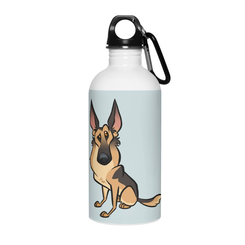German Shepherd Accessories Water Bottle by binarygod's Artist Shop