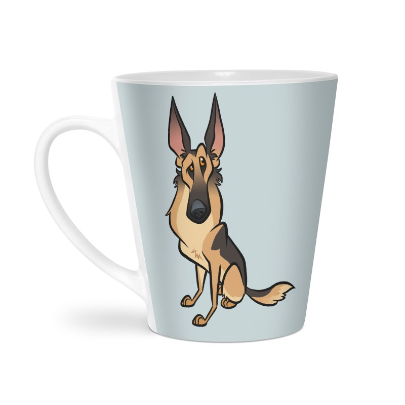 German Shepherd Accessories Latte Mug by binarygod's Artist Shop