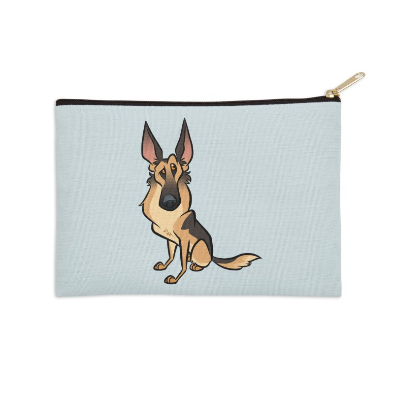 German Shepherd Accessories Zip Pouch by binarygod's Artist Shop