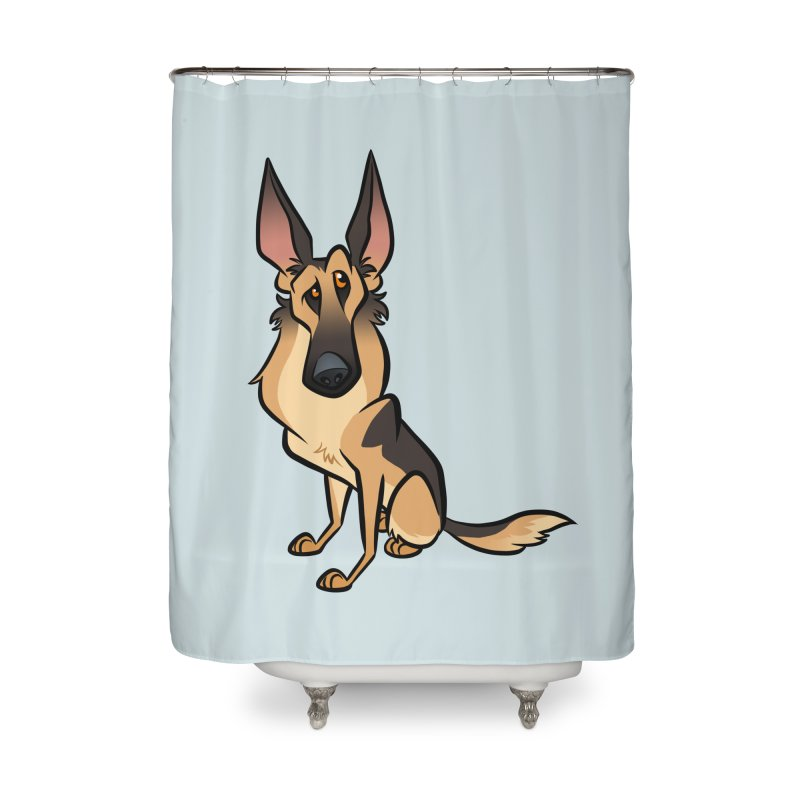 German Shepherd Home Shower Curtain by binarygod's Artist Shop