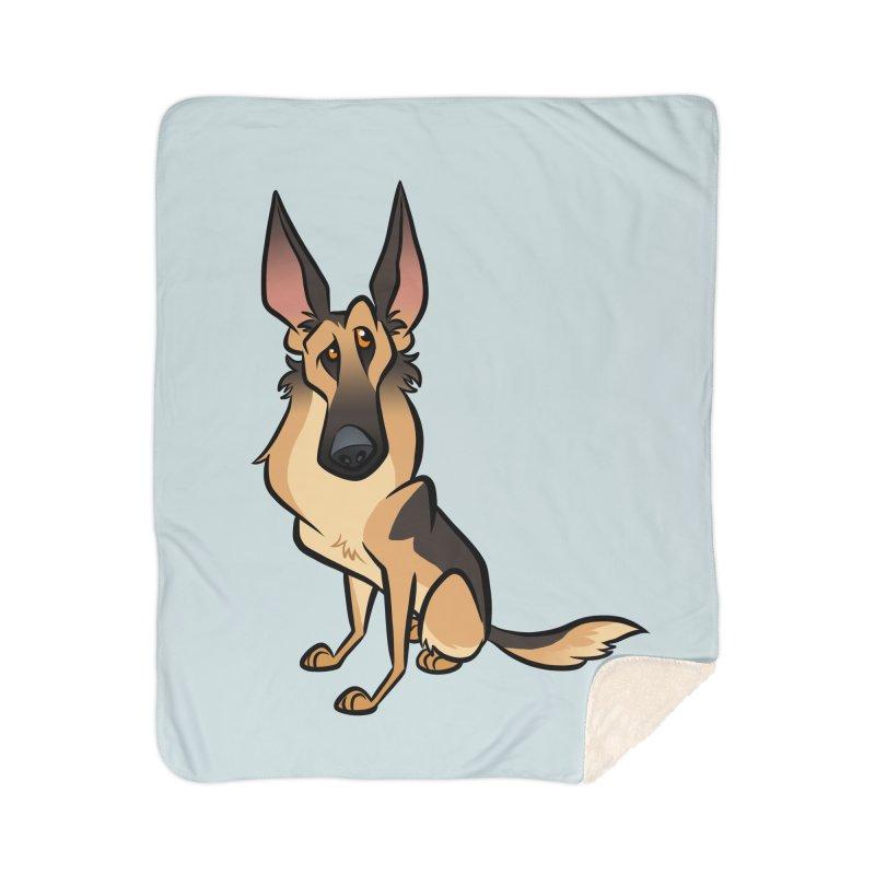 German Shepherd Home Sherpa Blanket Blanket by binarygod's Artist Shop