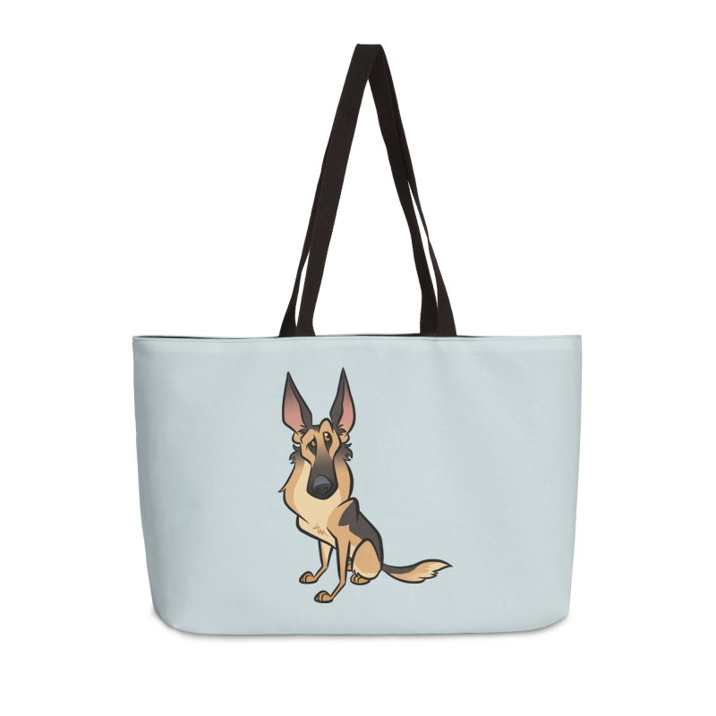 German Shepherd Accessories Weekender Bag Bag by binarygod's Artist Shop