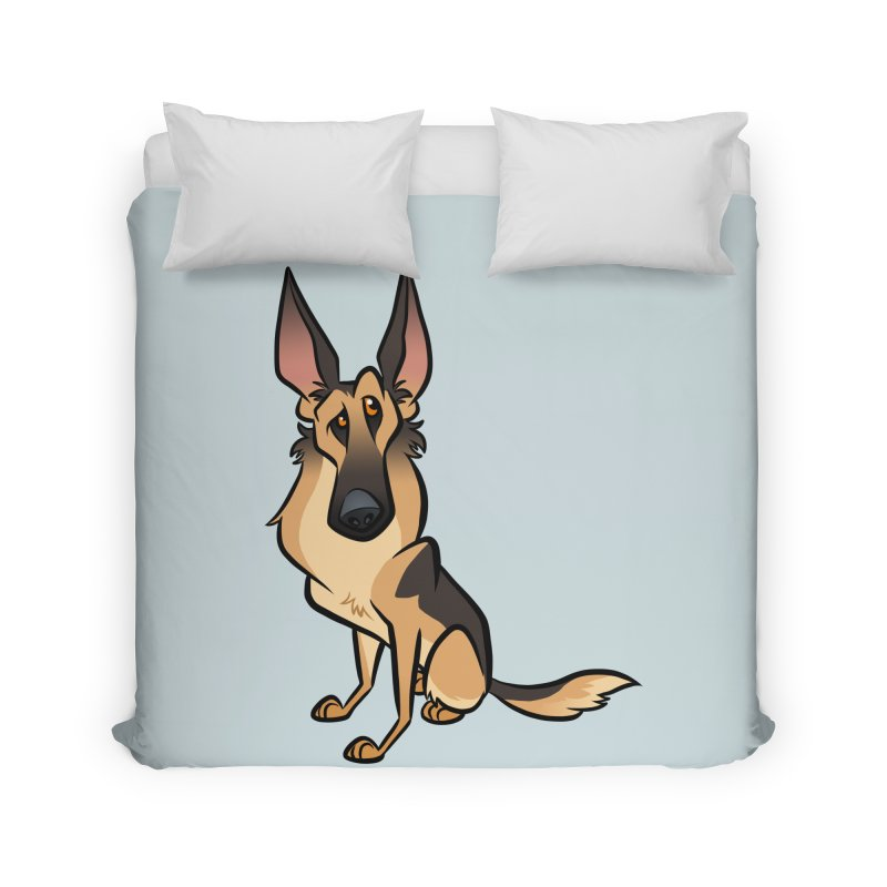 German Shepherd Home Duvet by binarygod's Artist Shop