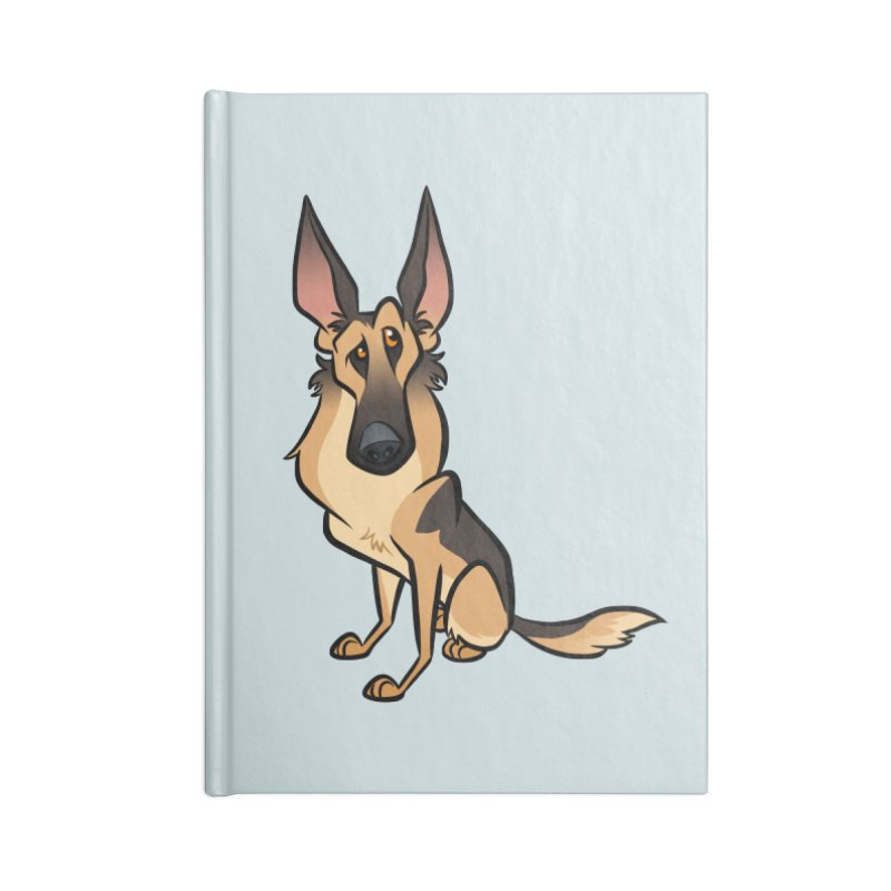 German Shepherd Accessories Blank Journal Notebook by binarygod's Artist Shop
