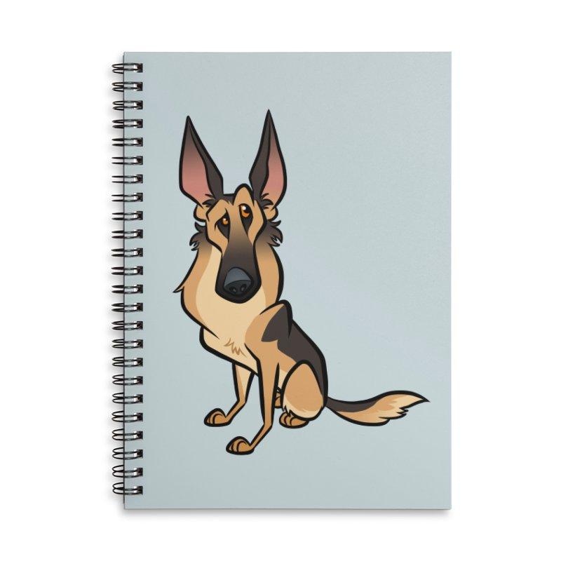 German Shepherd Accessories Lined Spiral Notebook by binarygod's Artist Shop