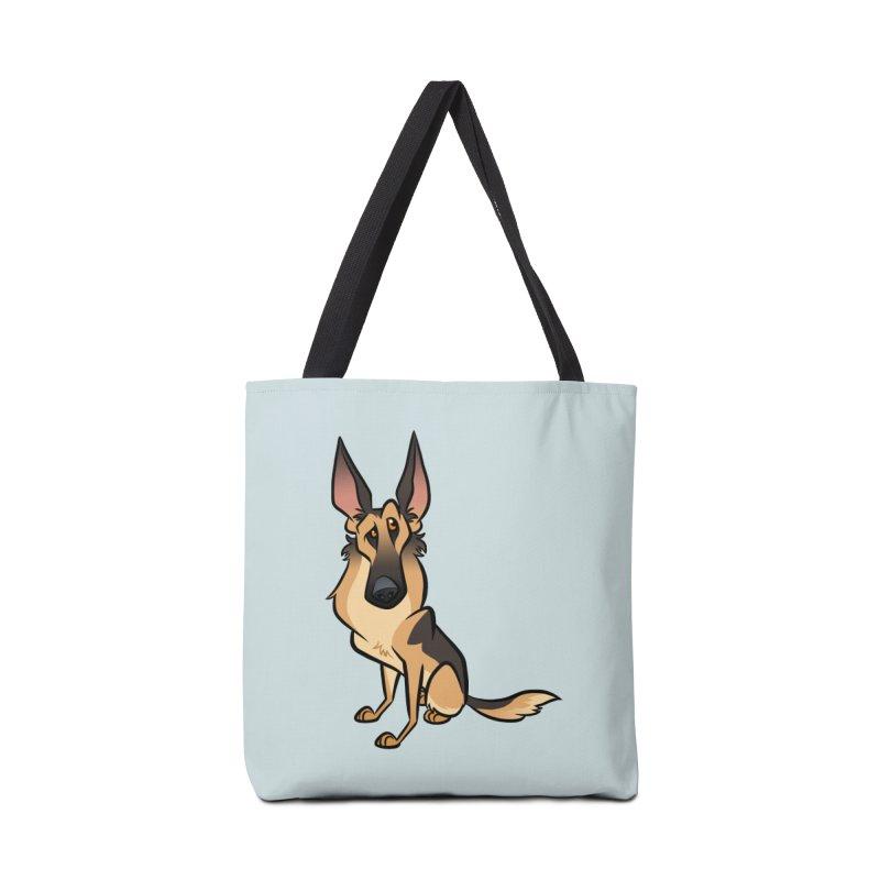 German Shepherd Accessories Bag by binarygod's Artist Shop