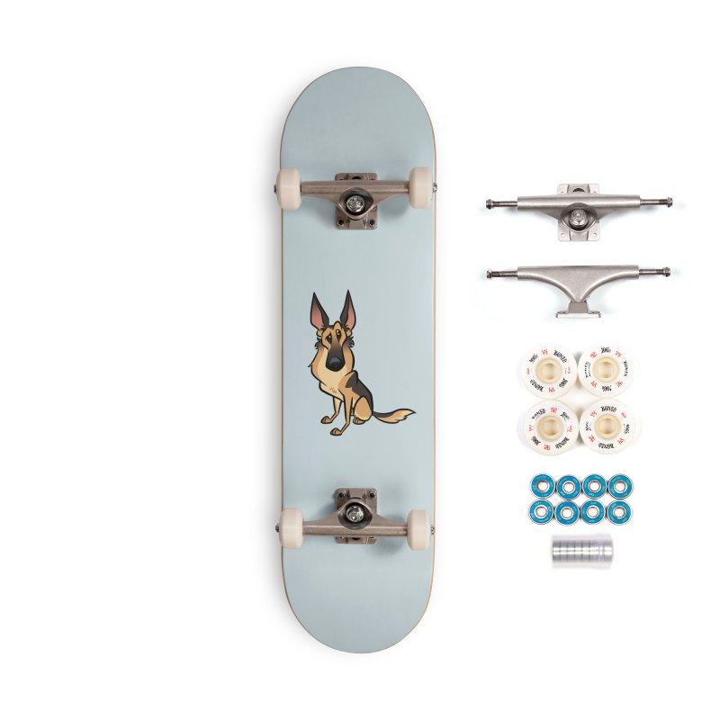 German Shepherd Accessories Complete - Premium Skateboard by binarygod's Artist Shop