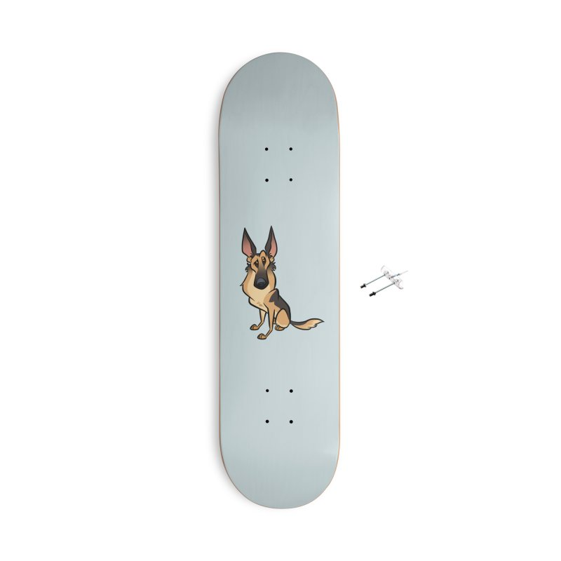 German Shepherd Accessories With Hanging Hardware Skateboard by binarygod's Artist Shop