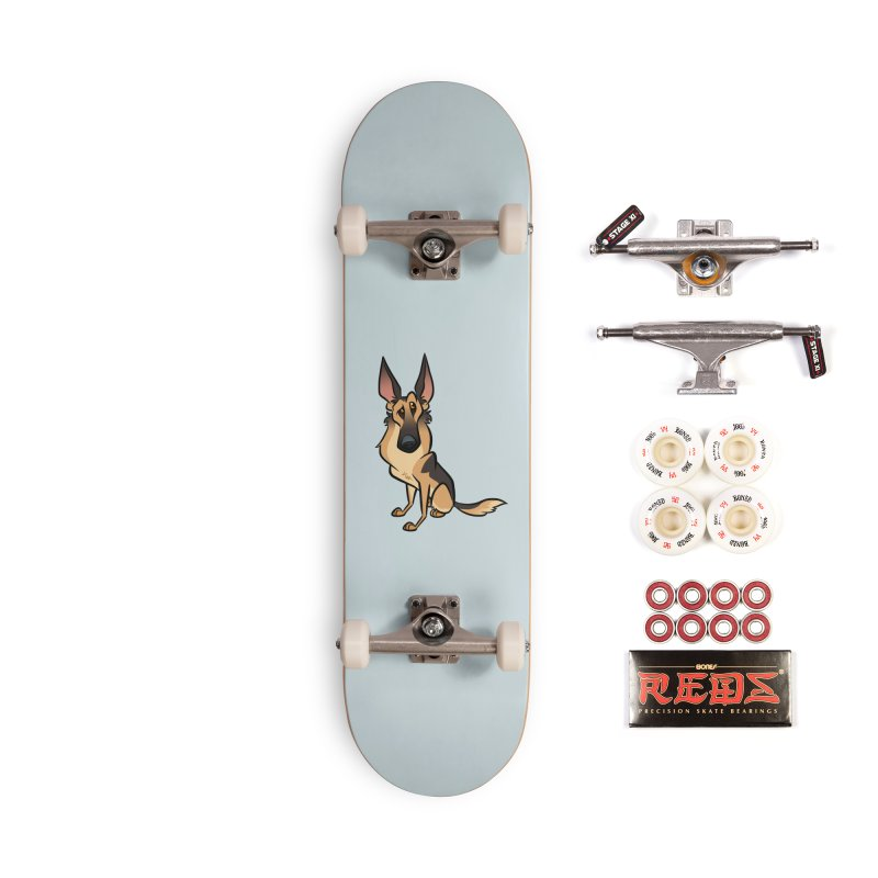 German Shepherd Accessories Complete - Pro Skateboard by binarygod's Artist Shop