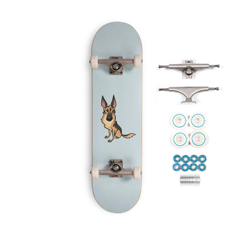 German Shepherd Accessories Complete - Basic Skateboard by binarygod's Artist Shop
