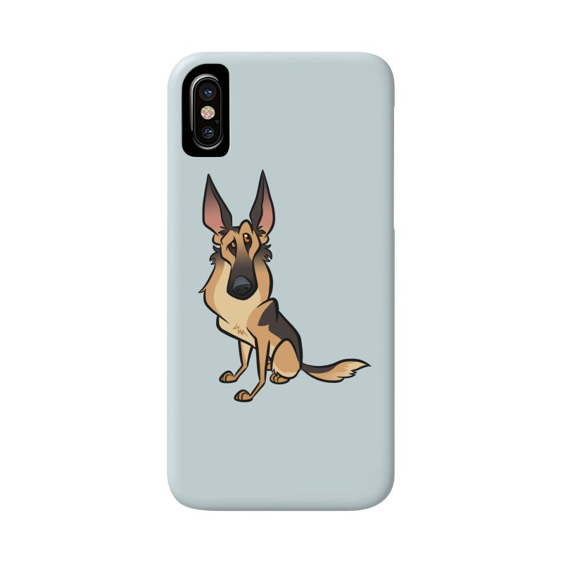 German Shepherd Accessories Phone Case by binarygod's Artist Shop