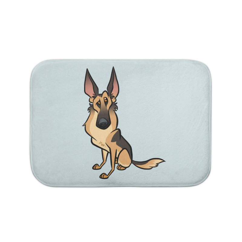 German Shepherd Home Bath Mat by binarygod's Artist Shop