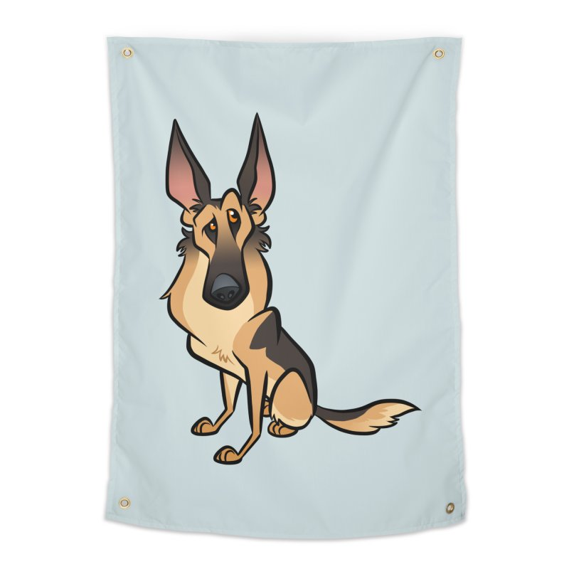 German Shepherd Home Tapestry by binarygod's Artist Shop