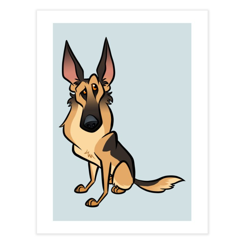 German Shepherd Home Fine Art Print by binarygod's Artist Shop