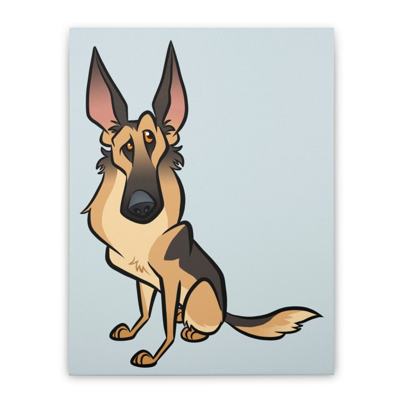 German Shepherd Home Stretched Canvas by binarygod's Artist Shop