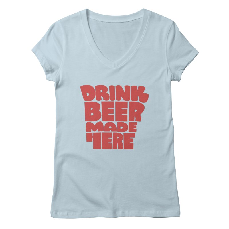 DBMH - Arkansas Women's V-Neck by Mike Williams' Artist Shop