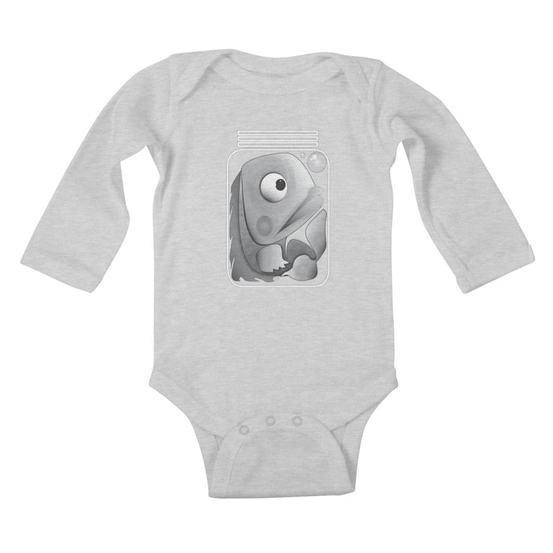 Tight Fit Kids Baby Longsleeve Bodysuit by Slugamo's Threads