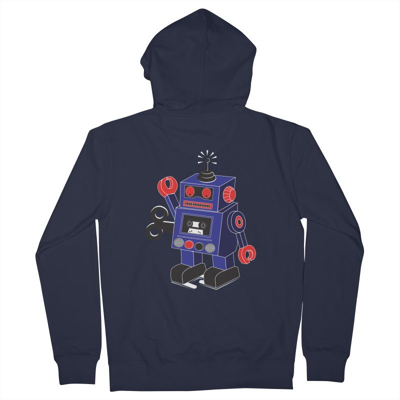 Retro Bot Women's Zip-Up Hoody by Slugamo's Threads
