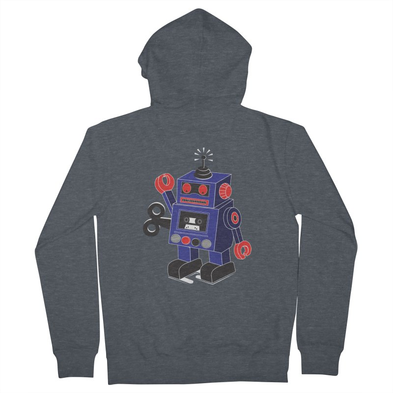Retro Bot Men's Zip-Up Hoody by Slugamo's Threads