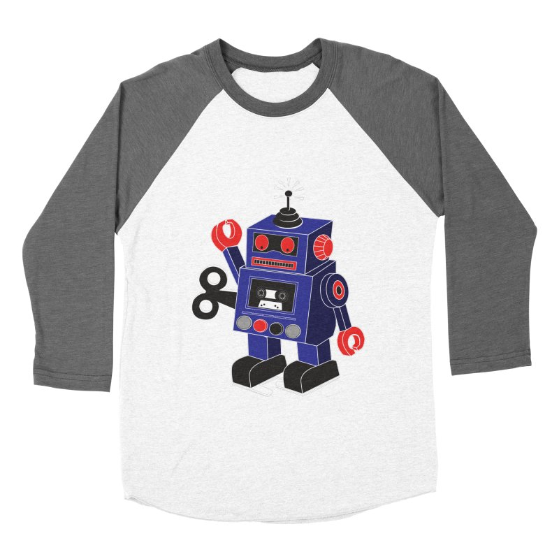 Retro Bot Women's Baseball Triblend T-Shirt by Slugamo's Threads