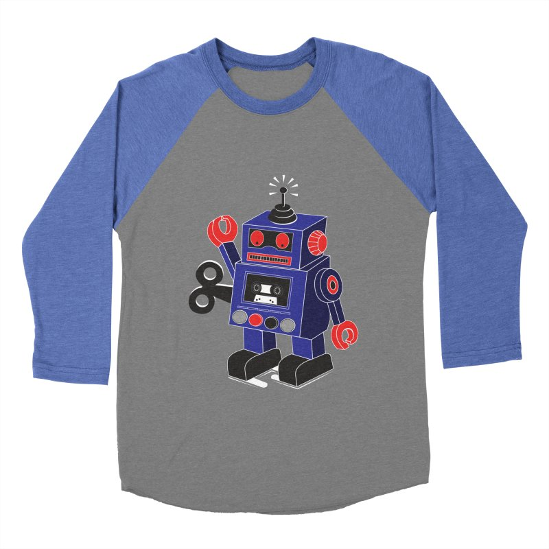 Retro Bot Men's Baseball Triblend T-Shirt by Slugamo's Threads