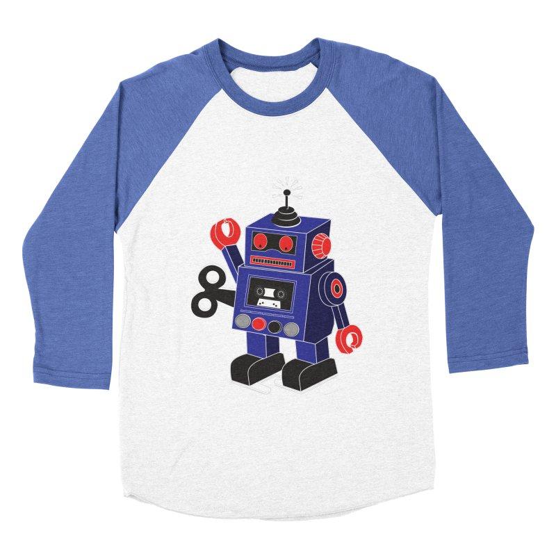 Retro Bot Men's Baseball Triblend T-Shirt by Slugamo's Threads
