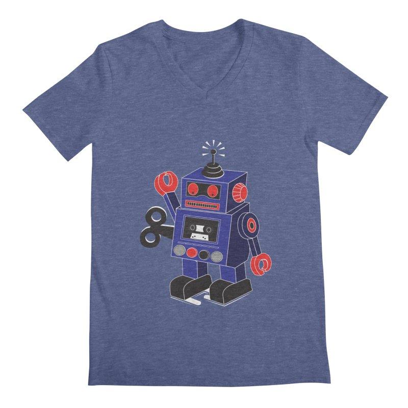 Retro Bot Men's V-Neck by Slugamo's Threads