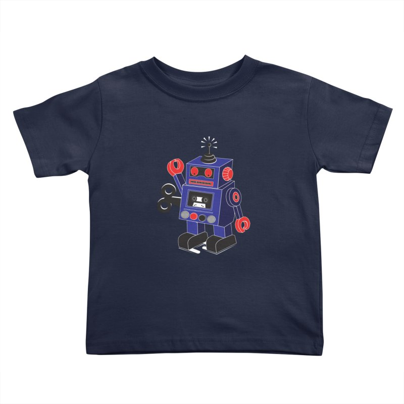 Retro Bot Kids Toddler T-Shirt by Slugamo's Threads