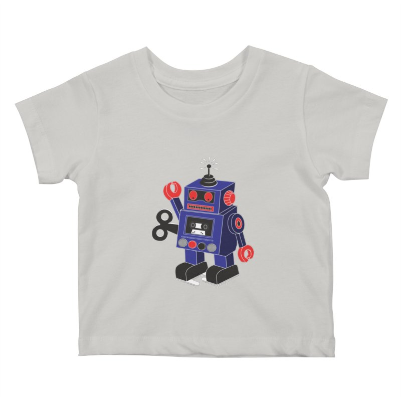 Retro Bot Kids Baby T-Shirt by Slugamo's Threads