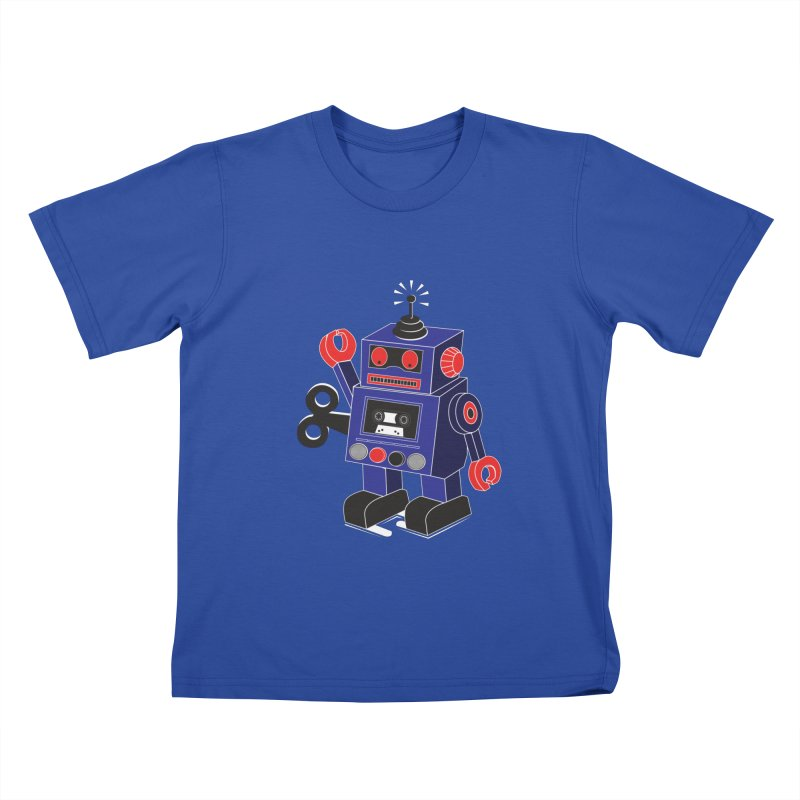 Retro Bot Kids T-shirt by Slugamo's Threads