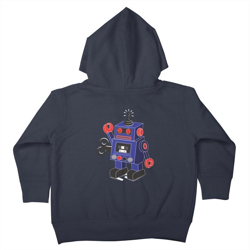 Retro Bot Kids Toddler Zip-Up Hoody by Slugamo's Threads