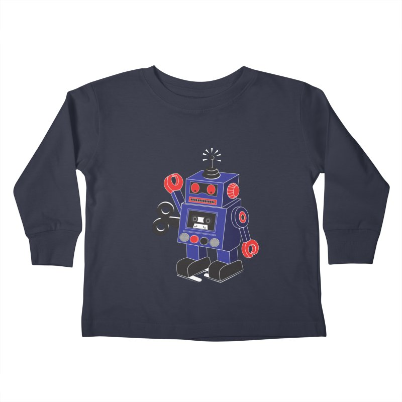Retro Bot Kids Toddler Longsleeve T-Shirt by Slugamo's Threads