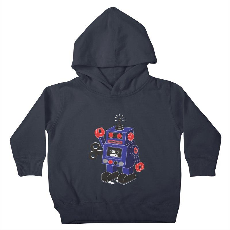 Retro Bot Kids Toddler Pullover Hoody by Slugamo's Threads
