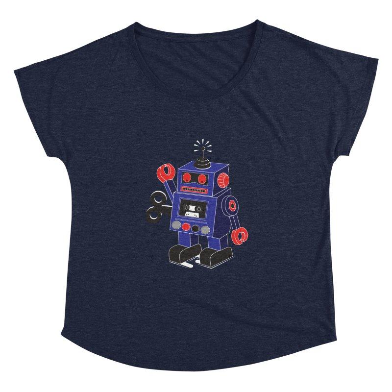 Retro Bot Women's Dolman by Slugamo's Threads
