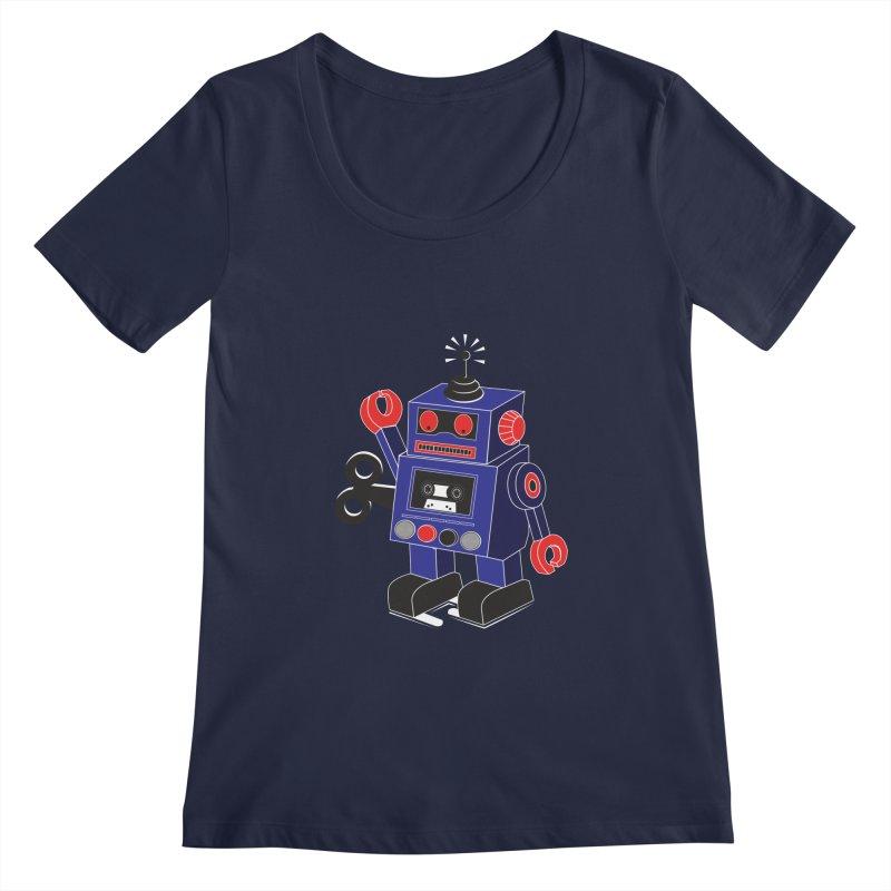 Retro Bot Women's Scoopneck by Slugamo's Threads