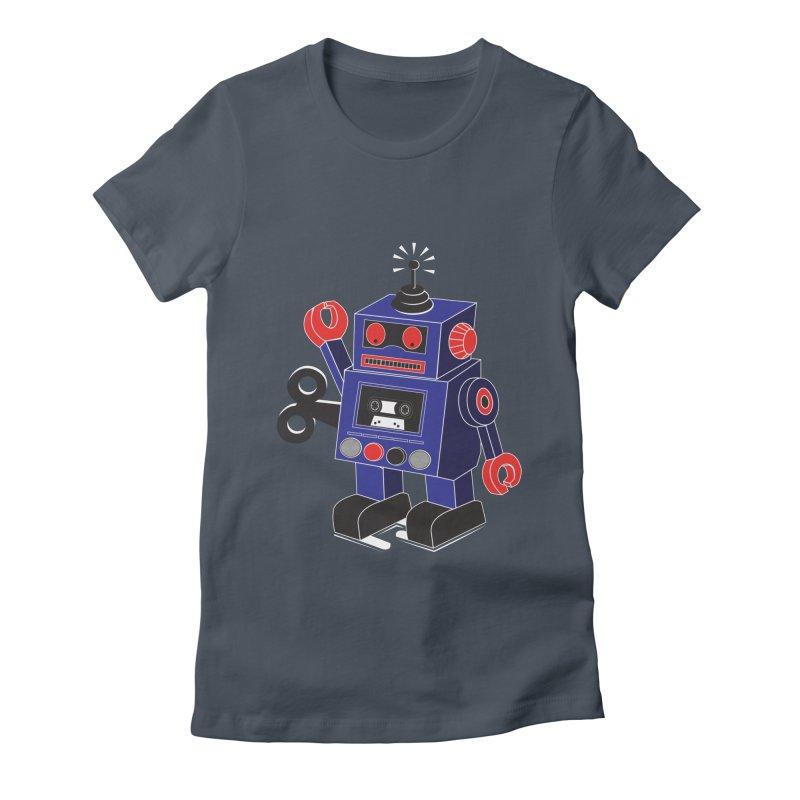 Retro Bot Women's Fitted T-Shirt by Slugamo's Threads