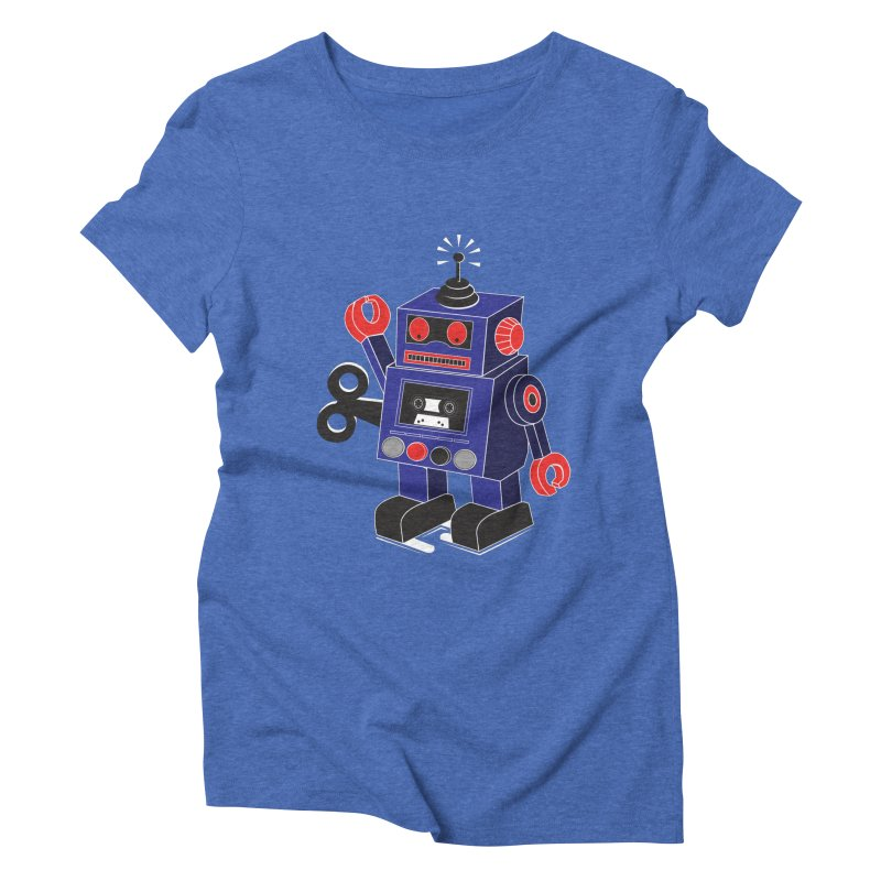 Retro Bot Women's Triblend T-shirt by Slugamo's Threads