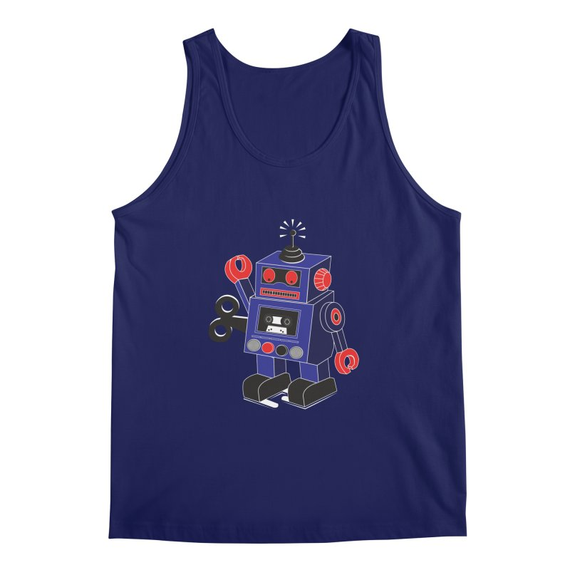 Retro Bot Men's Tank by Slugamo's Threads