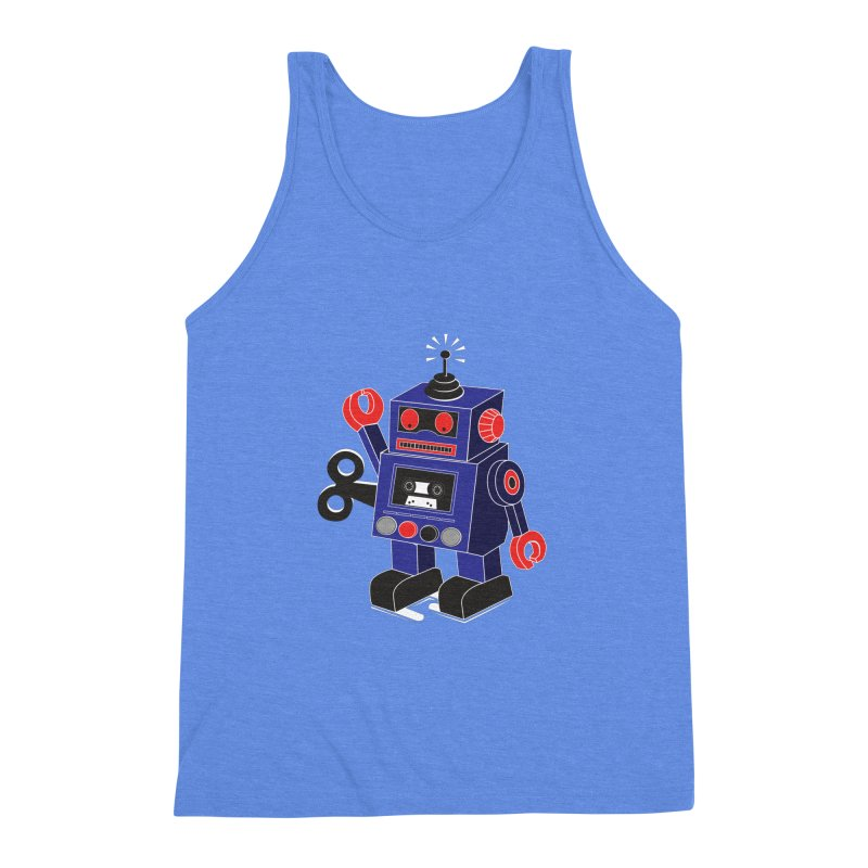 Retro Bot Men's Triblend Tank by Slugamo's Threads