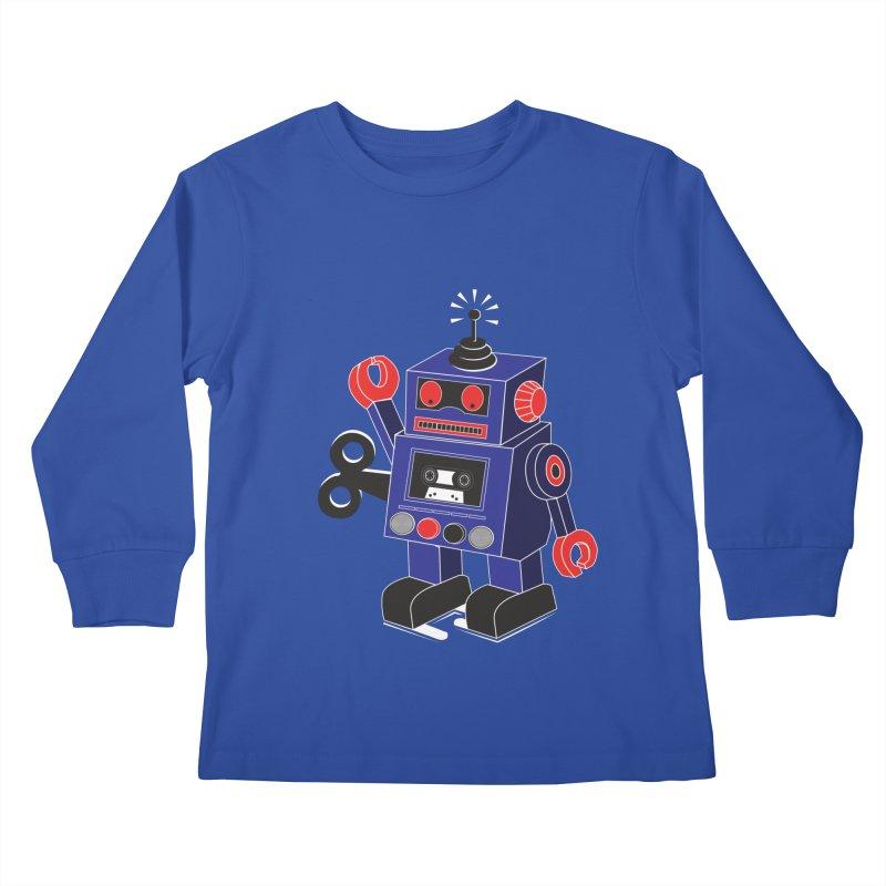 Retro Bot Kids Longsleeve T-Shirt by Slugamo's Threads