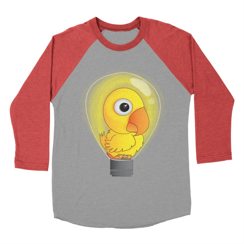 Baby Chick Men's Baseball Triblend T-Shirt by Slugamo's Threads